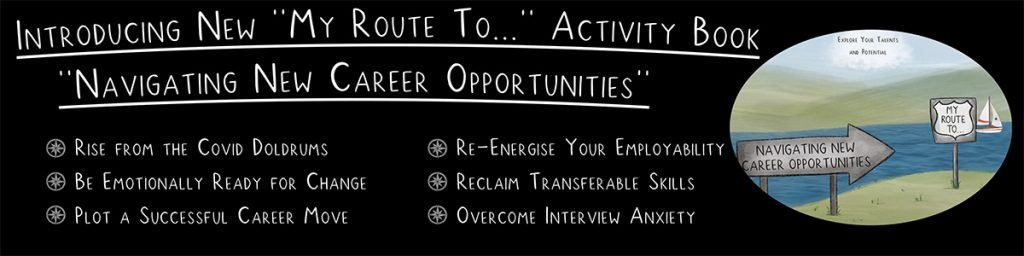 Banner introducing Navigating New Career Opportunities Book